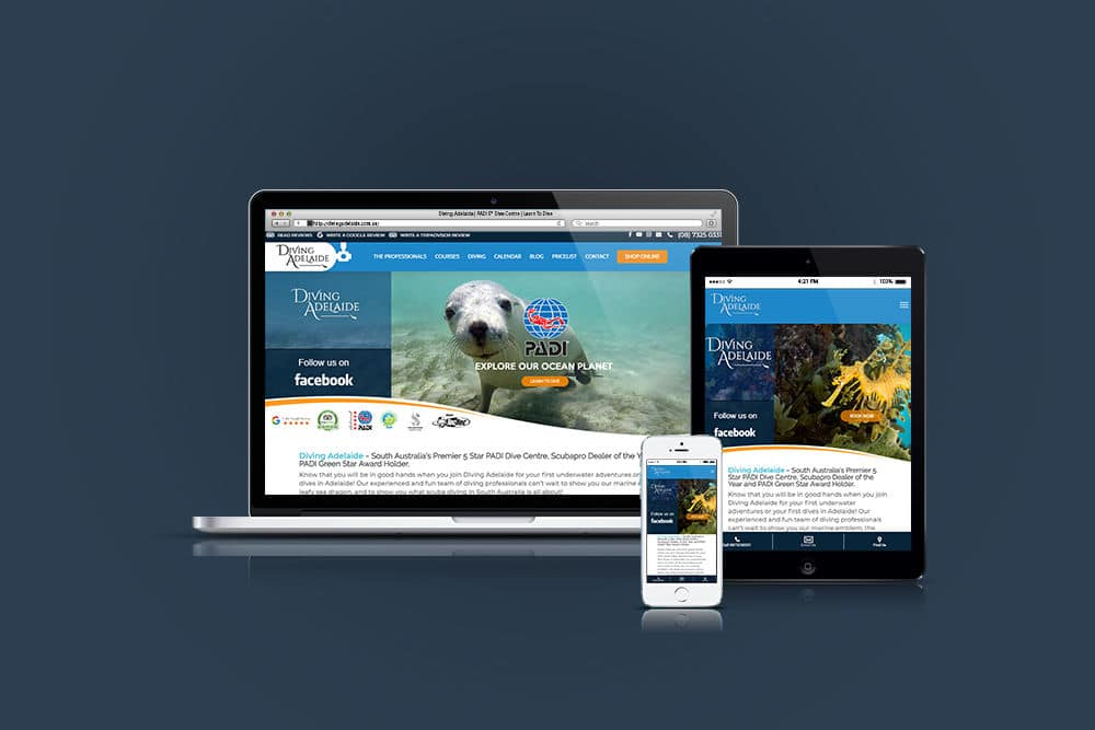 Diving Adelaide WordPress Website