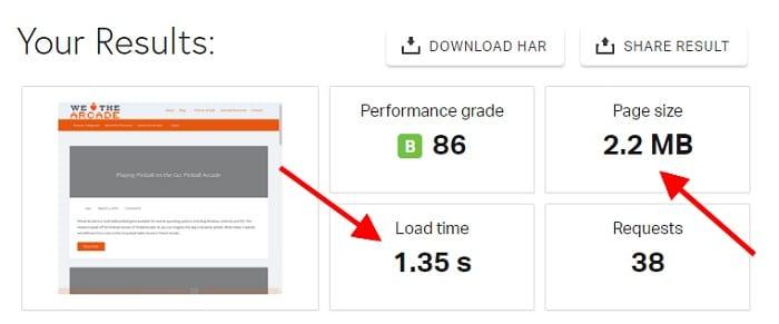 Pingdom Tools PageSpeed