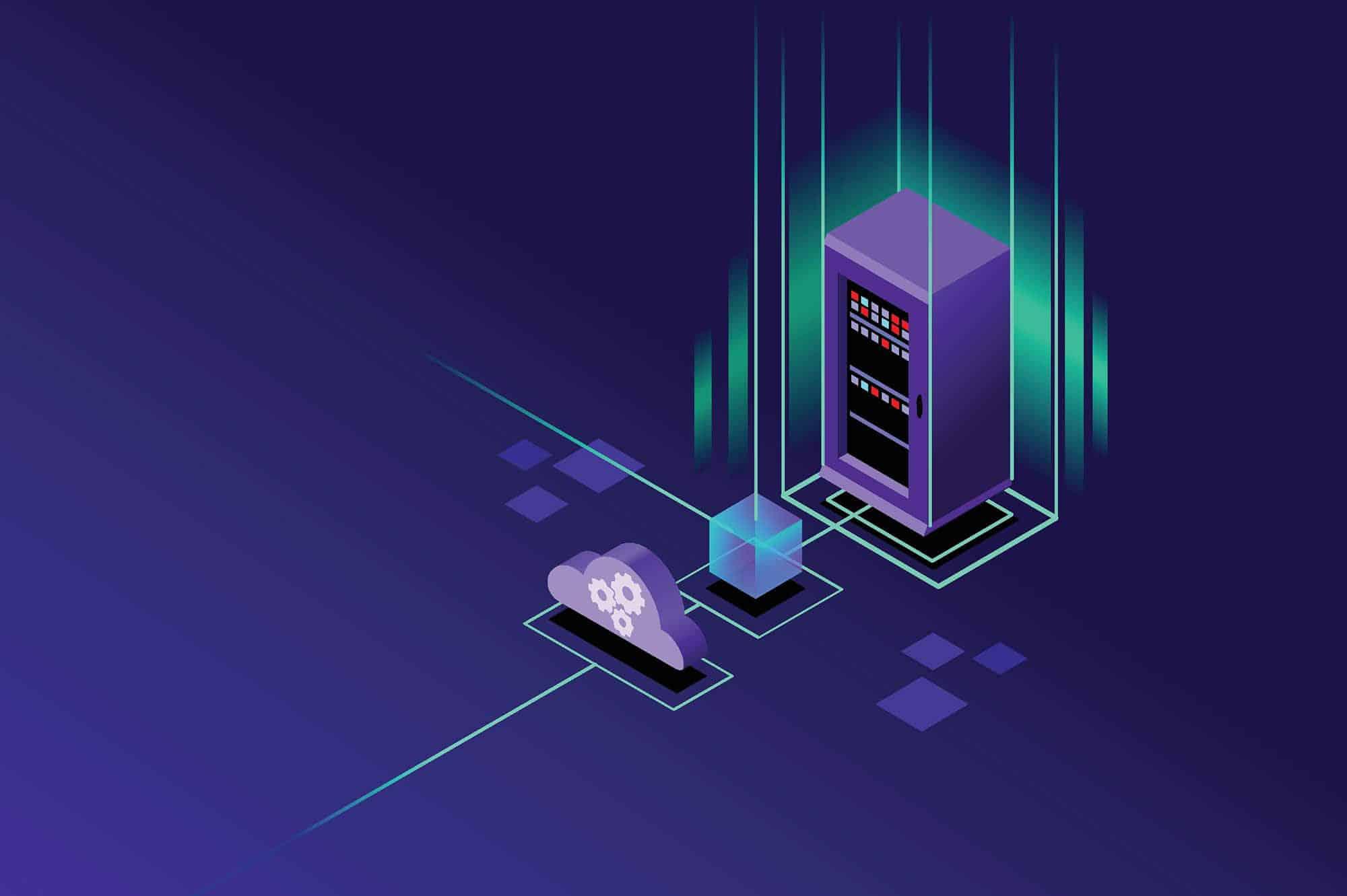 Website hosting server illustration