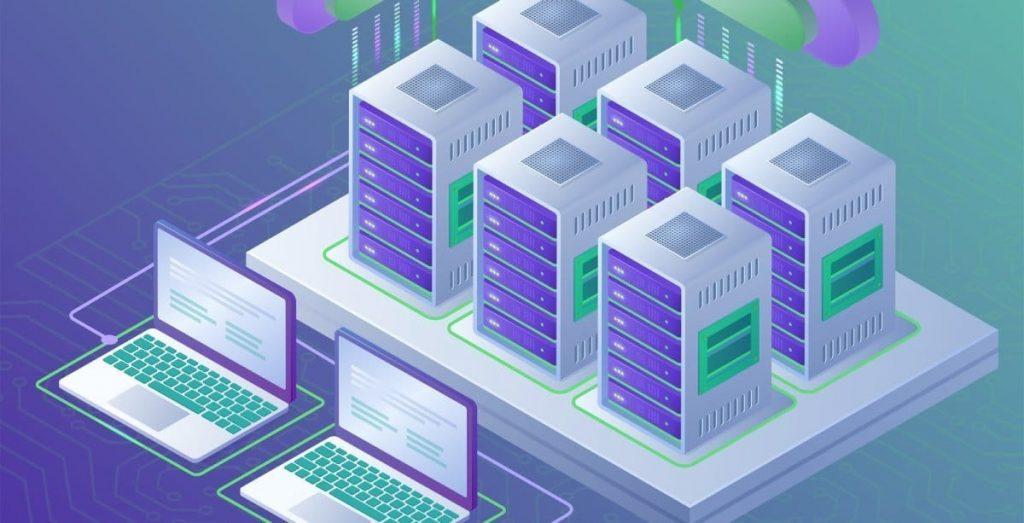 Website migration to web server illustration