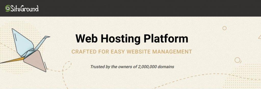 SiteGround Web Hosting for WordPress