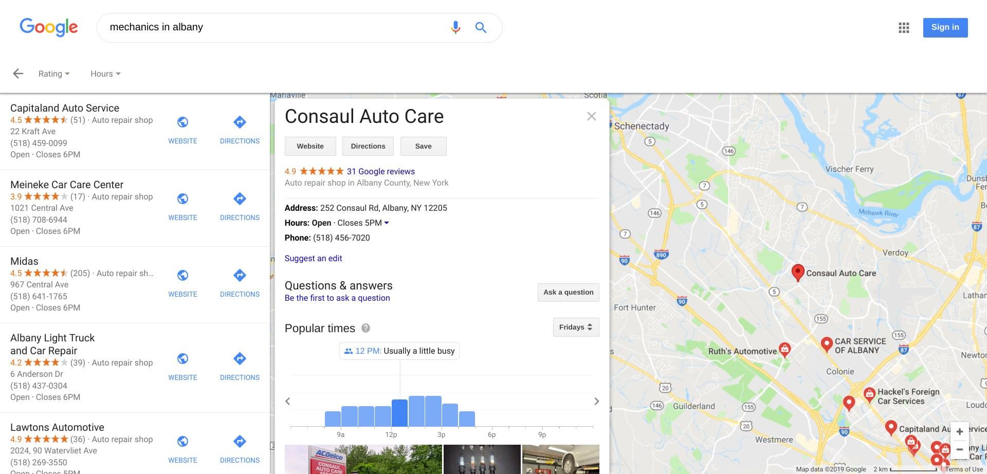 Local SEO Google Maps Business Listing