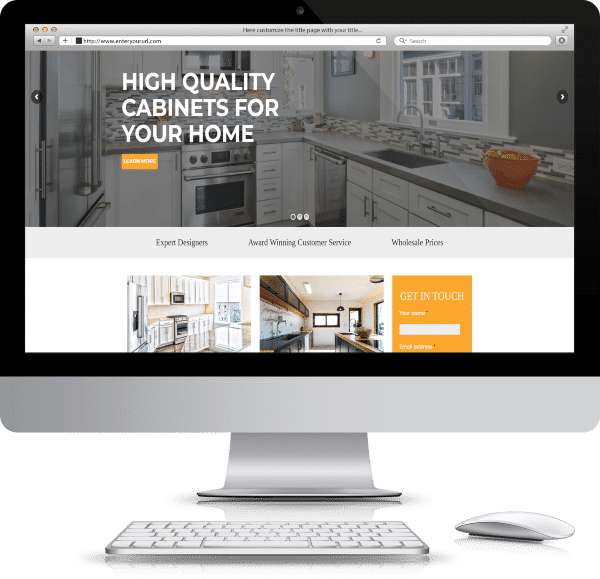 Accessible website design mockup