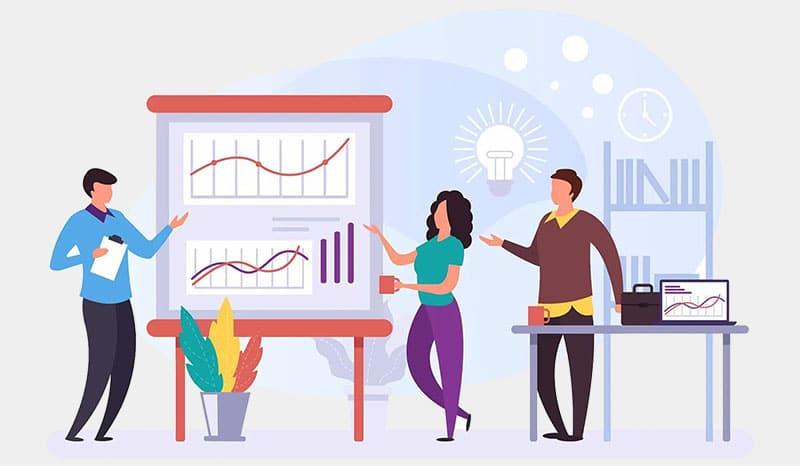 Website content management team illustration