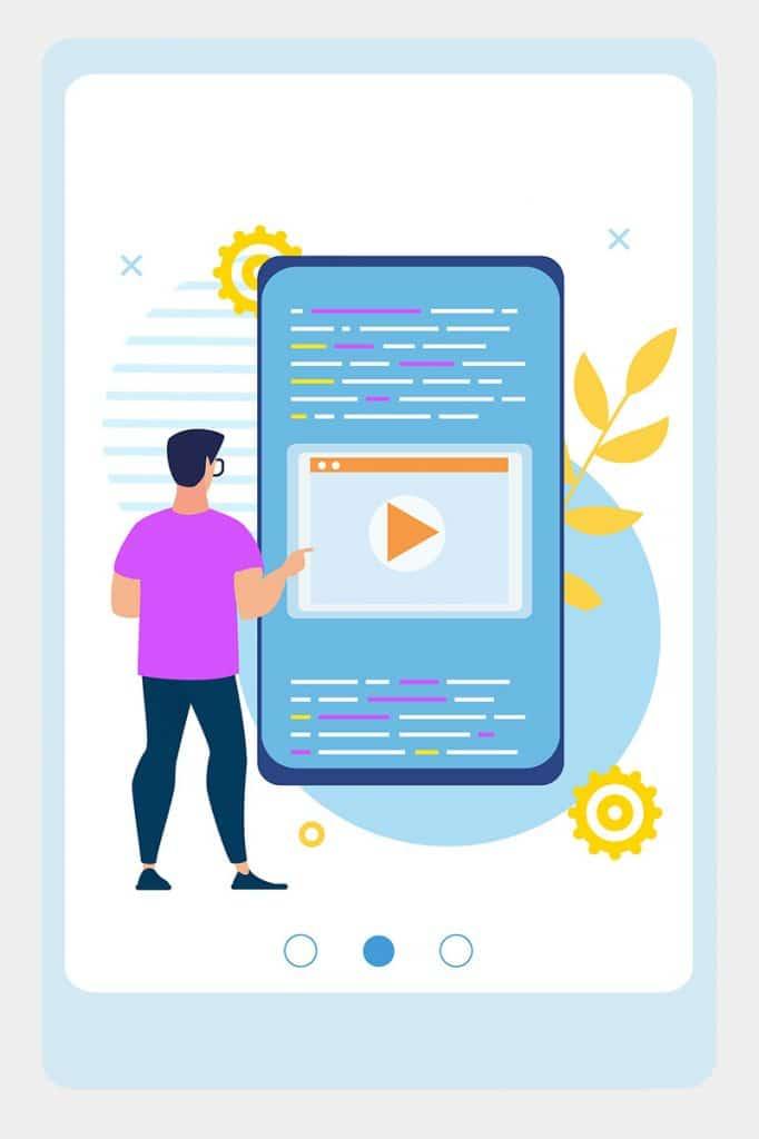 Website user testing illustration